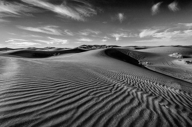dunas blanco y negro