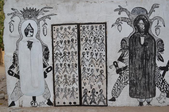 arte callejero, Joal, Senegal