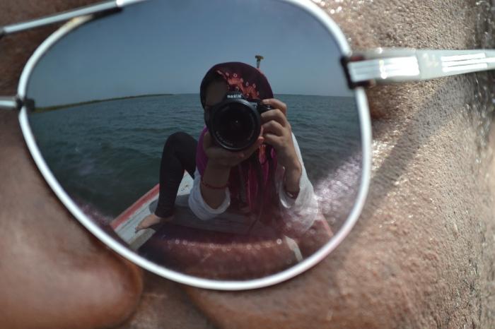 Selfie reflejo gafas