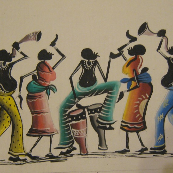 African-Dance-from-Kande-Village-Malawi-46-by-26cm-£20-un-framed-£30-Framed-570x570