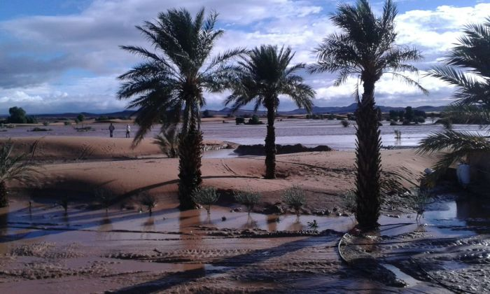 Lluvias en Khamlia, Erg Chebbi